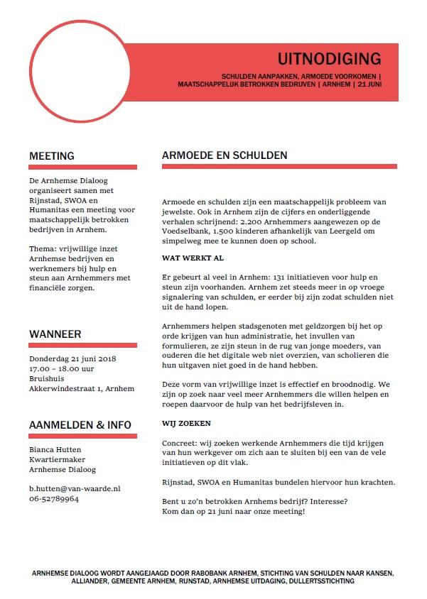 Arnhemse Dialoog 21 juni